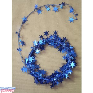 Blue Star 18' Wire Garland