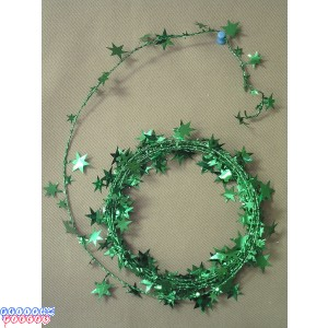Green Star 18' Wire Garland