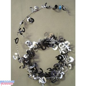 Black & Silver 9 ' 60th Wire Garland