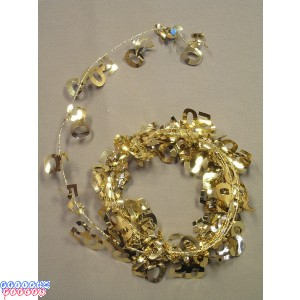 Gold 12' 50th Wire Garland