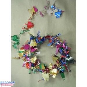 Multicolor 12' Happy Birthday Wire Garland