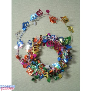 Multicolor 9' 100th Wire Garland