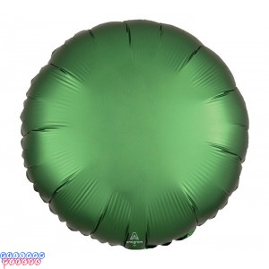 "Satin Luxe Emerald Green 18"" Solid Color Round Foil Balloon"