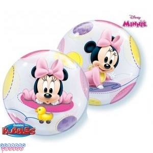 "Baby Minnie 22"" Round Bubble Balloon"