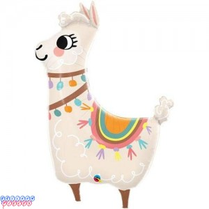 "Llama Lovable 45"" Giant Foil Balloon"
