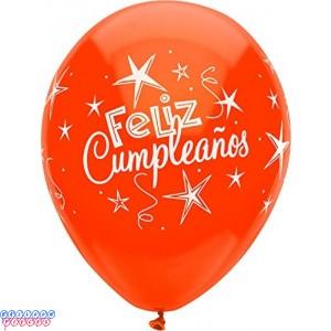 Feliz Cumpleanos 12 inch Latex Balloons 6ct