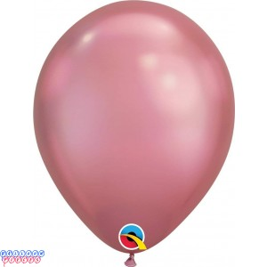 "Chrome Mauve Metallic 11"" Latex Balloons"