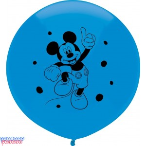 Disney Mickey Mouse 17 inch Round Latex Balloons 3ct