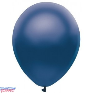 Metallic Satin Navy Blue Color 12inch Latex Balloons