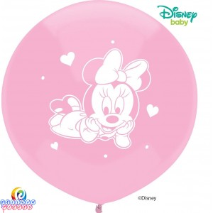 Disney Baby Minnie Mouse 17 inch Round Latex Balloons 3ct