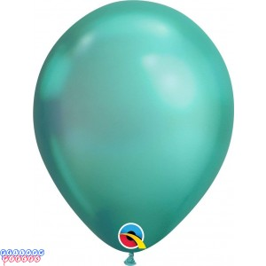 Chrome Green Metallic 11inch Latex Balloon