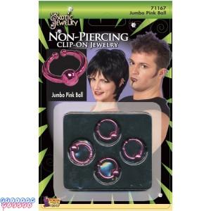 Body Piercing Jumbo Ball Ring - Pink