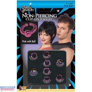 Body Piercing Ball Ring - Pink
