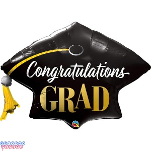 """Qualatex 41"""" Congratulations Grad Stars Foil Balloon"""