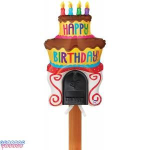 Happy Birthday Cake Mailbox Balloon