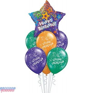 Birthday Purple Star Balloon Bouquet