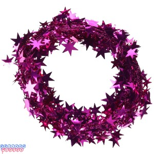 Magenta/Fuchsia Star 25' Wire Garland