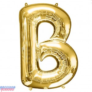 Giant Letter B Gold Mylar Balloon 40in