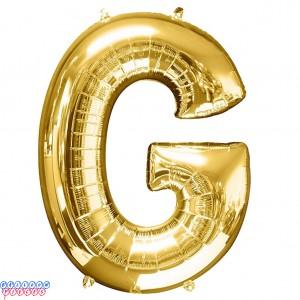 Giant Letter G Gold Mylar Balloon 40in