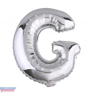 Giant Letter G Silver Mylar Balloon 40in