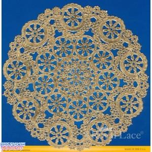 """Royal Lace Medallion 4"""" Gold Round Foil Paper Doilies"""