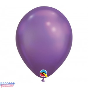 Chrome Purple Metallic 11inch Latex Balloons