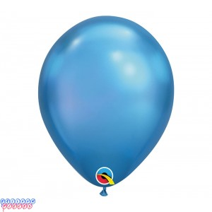 Chrome Blue Metallic 11 inch Latex Balloons
