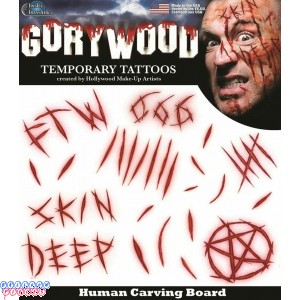 Tinsley Carving Board Scar Lettering Prosthetic Special FX Makeup Temp Tattoos
