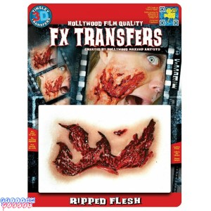 Ripped Flesh Wound - 3D FX Prosthetic Tinsley Transfers
