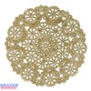 """Royal Lace Medallion 8"""" Gold Round Foil Paper Doilies"""