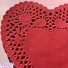 "Royal Lace 6"" Red Lace Heart Paper Doilies"
