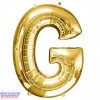 Giant Letter G Gold Mylar Balloon 40in