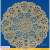 Royal Lace Medallion 6 inch Gold Round Foil Paper Doilies