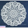 "Royal Lace Medallion 6"" White Round Lace Paper Doilies"